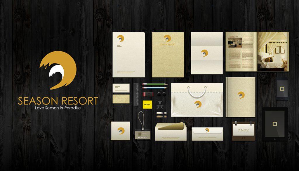 Thiet ke logo Season Resort 2