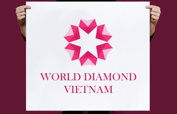 Thiet ke logo World Diamond 1