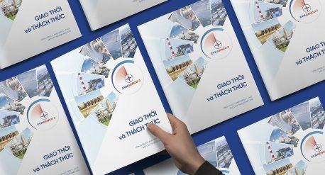 Dự án thiết kế báo cáo thường niên Tổng công ty phát điện 3 - EVNGENCO 3 năm 2018 do Adina Việt Nam thực hiện 1