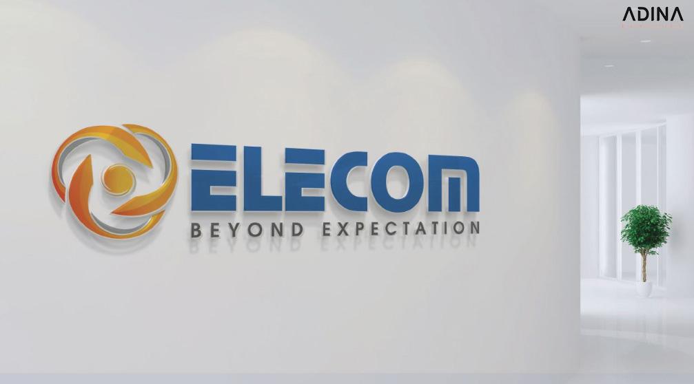 Logo trong bộ nhận diện thương hiệu Elecom