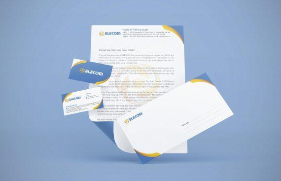 Mẫu thiết kế bộ nhận diện thương hiệu Elecom do Adina Việt Nam thực hiện 6