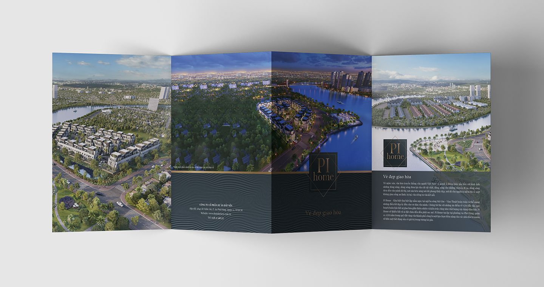 Dự án thiết kế bộ nhận diện thương hiệu dự án bất động sản Pi City 10
