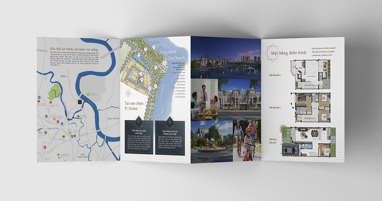 Dự án thiết kế bộ nhận diện thương hiệu dự án bất động sản Pi City 11