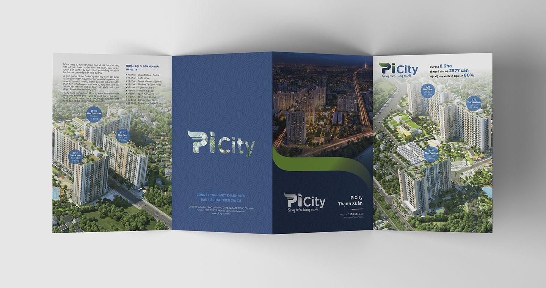 Dự án thiết kế bộ nhận diện thương hiệu dự án bất động sản Pi City 12