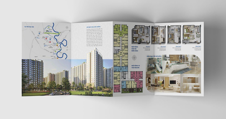Dự án thiết kế bộ nhận diện thương hiệu dự án bất động sản Pi City 13