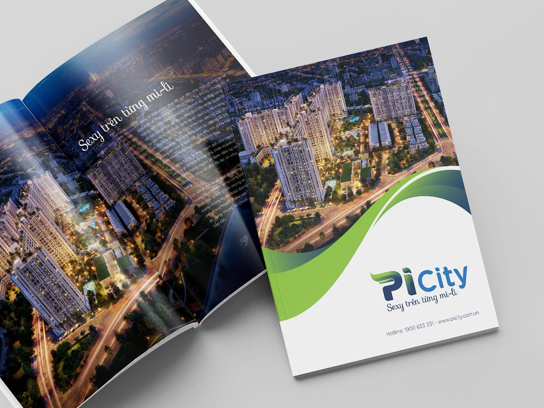 Dự án thiết kế bộ nhận diện thương hiệu dự án bất động sản Pi City 14
