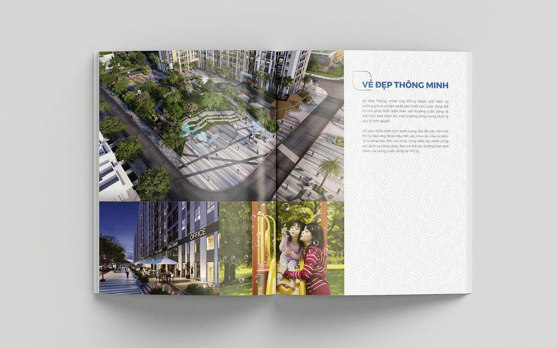 Dự án thiết kế bộ nhận diện thương hiệu dự án bất động sản Pi City 17