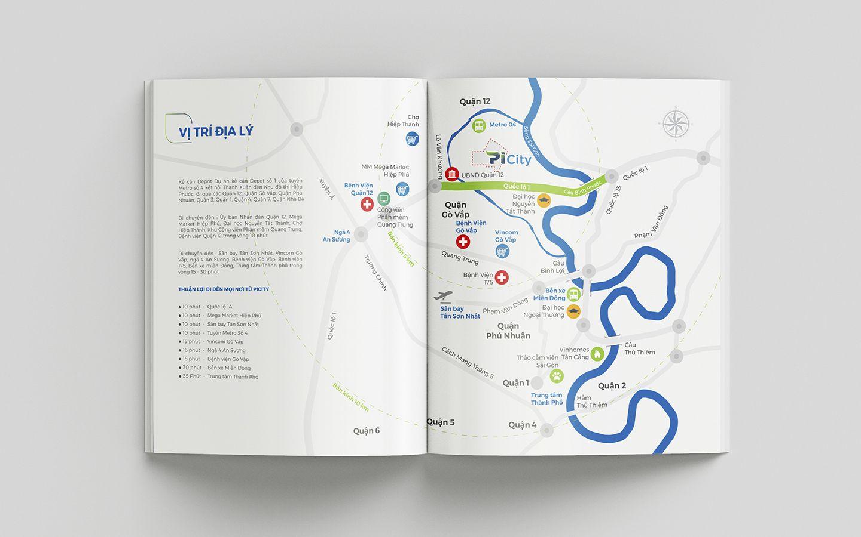 Dự án thiết kế bộ nhận diện thương hiệu dự án bất động sản Pi City 18
