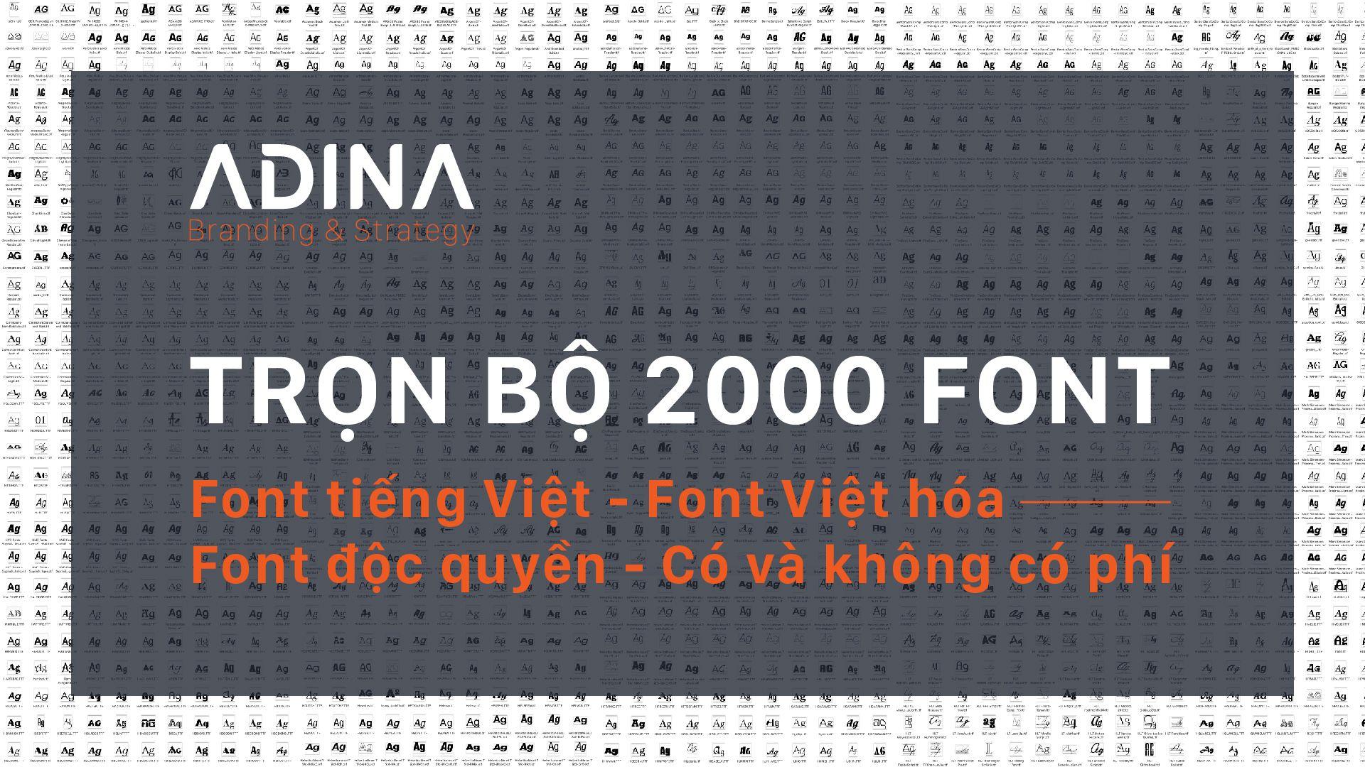 Trọn bộ sưu tập 2000+ font thiết kế chuyên nghiệp