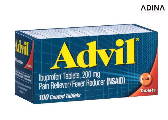 Bao bì dược phẩm của Advil thu hút người dùng tới thương hiệu một cách tự nhiên