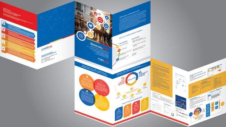 Brochure dịch vụ SOCIALME trong bộ tài liệu bán hàng của MobiFone