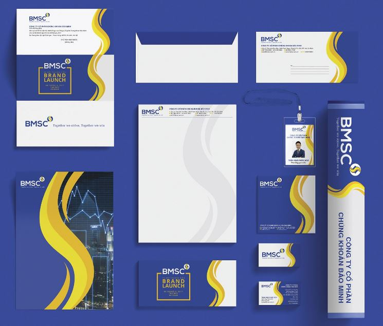 Letterhead thương hiệu chứng khoán Bảo Minh được sử dụng như một công cụ tiếp thị hiệu quả
