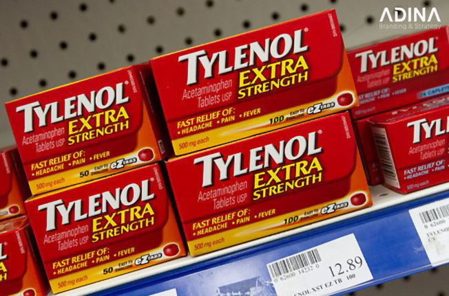 Nhãn thuốc ấn tượng của Tylenol