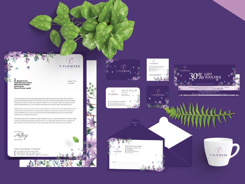 Thiết kế nhận diện thương hiệu T-Flowers