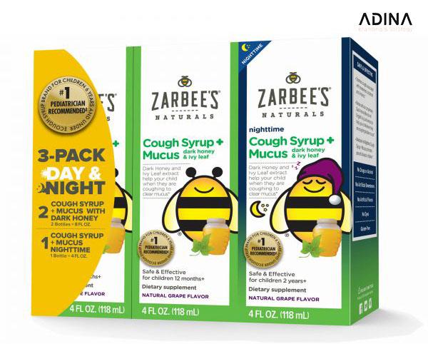 Thiết kế bao bì dược phẩm Zarbee's All Natural Cough Syrup