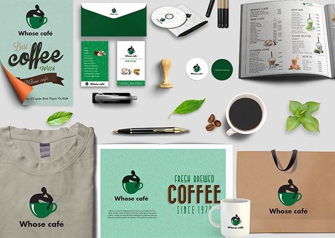 Những thành phần trong bộ nhận diện thương hiệu sản phẩm cafe