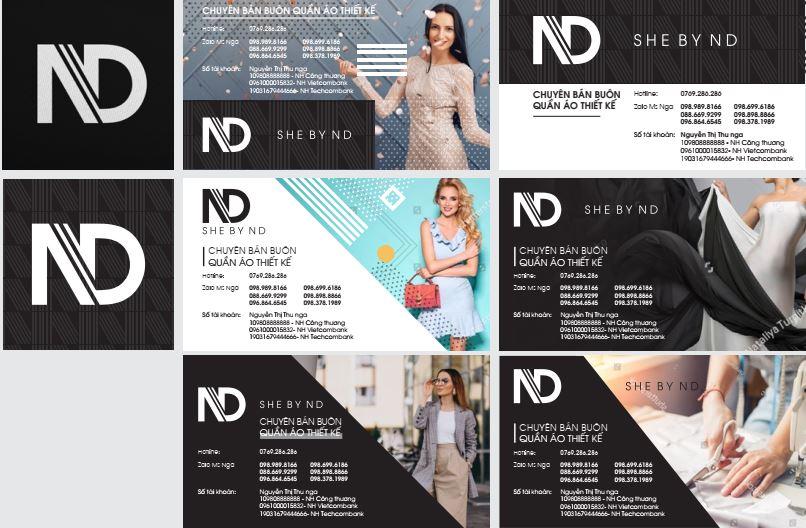 Bộ nhận diện thương hiệu thời trang nữ ND