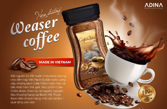 Thiết kế bao bì Cà phê Chồn