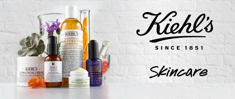 Tập sản phẩm của Kiehl's có thiết kế bao bì mang nét đặc trưng riêng của thương hiệu