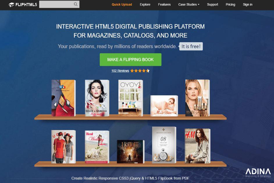FlipHTML5 - Công cụ thiết kế brochure tiện lợi