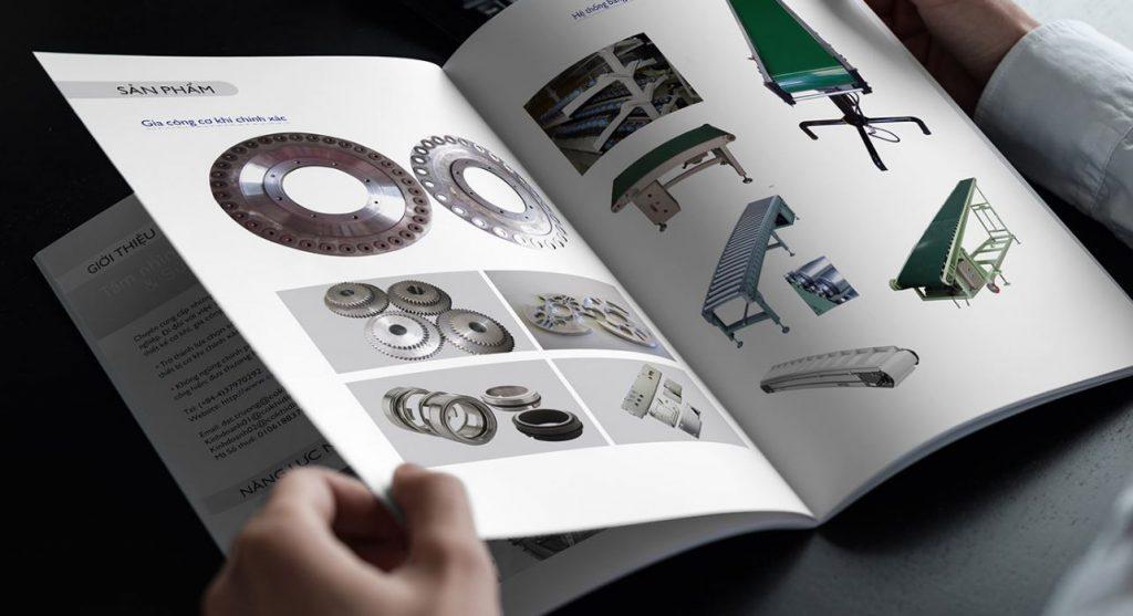 Mẫu thiết kế hồ sơ năng lực công ty cơ khí Đỉnh Cao