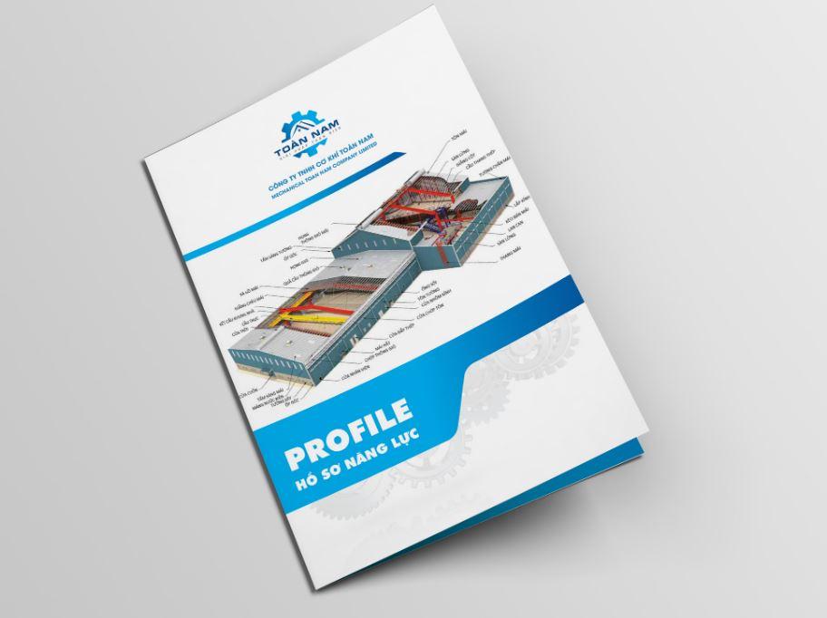 Mẫu thiết kế hồ sơ năng lực công ty cơ khí Toàn Nam