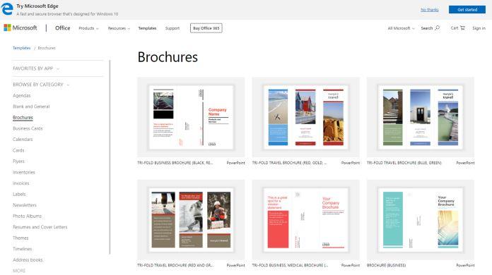 Tạo brochure miễn phí với Microsoft Office Maker