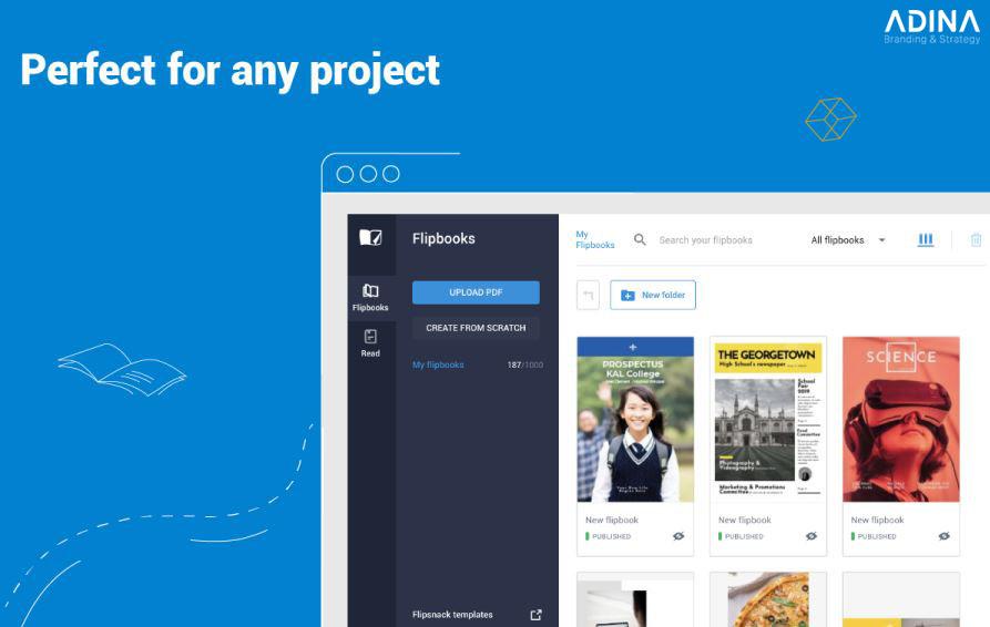 Thiết kế brochure trực tuyến cùng flipsnack