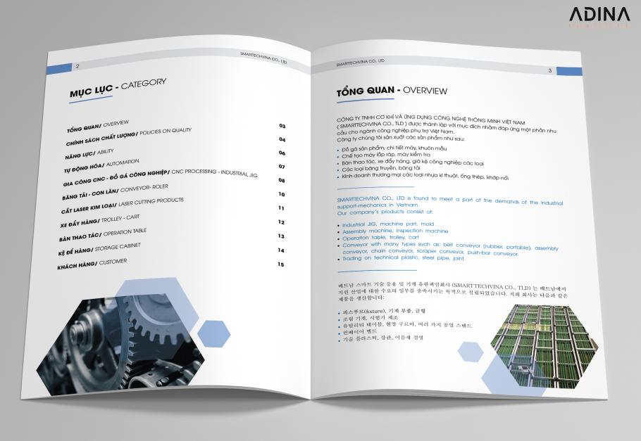 Lưu ý về nội dung trong hồ sơ năng lực công ty cơ khí