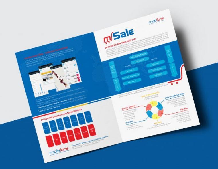 Mẫu brochure dịch vụ Msale