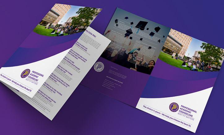 Mẫu brochure Trung tâm tư vấn đào tạo PAC