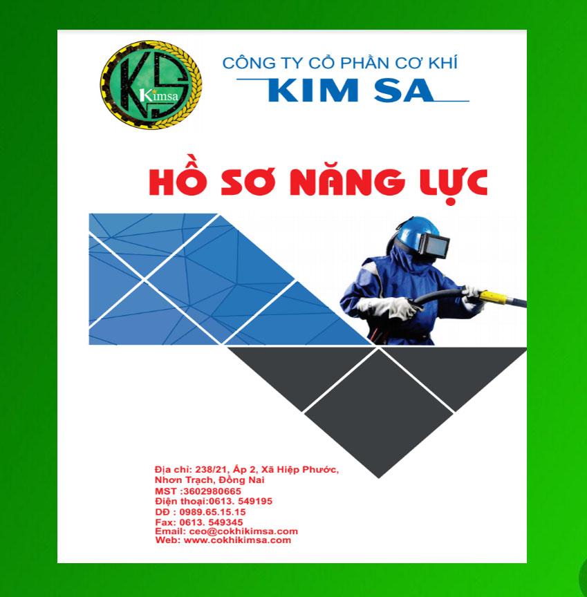 Mẫu thiết kế hồ sơ năng lực công ty cơ khí Kim Sa