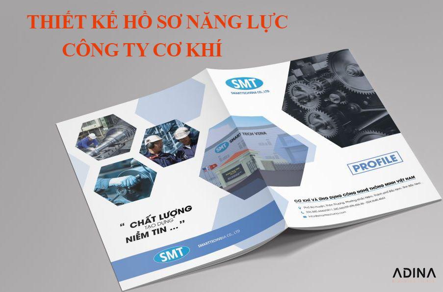 Thiết kế hồ sơ năng lực công ty cơ khí