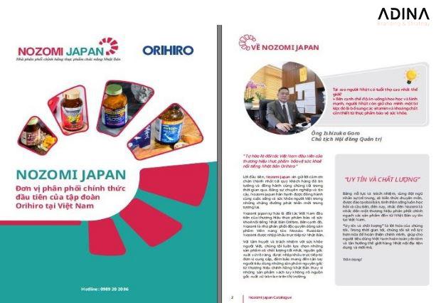 Mẫu hồ sơ năng lực công ty cổ phần thương mại quốc tế Nozomi Japan