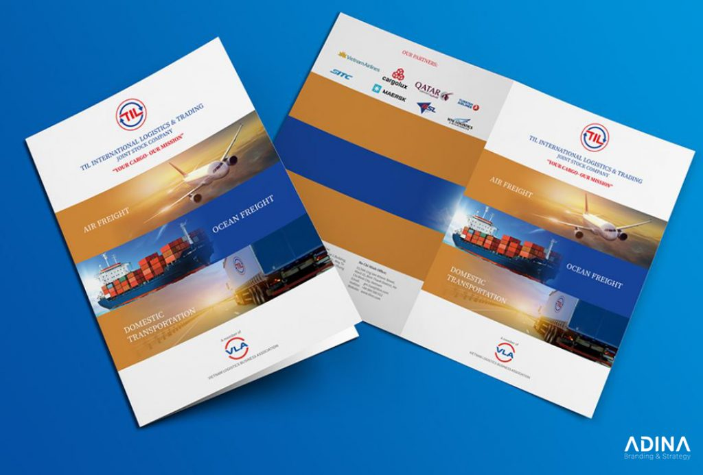 Mẫu thiết kế hồ sơ năng lực Công ty Vận Tải Quốc tế TIL