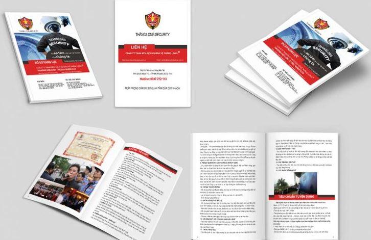 Mẫu thiết kế hồ sơ năng lực công ty bảo vệ Thăng Long (Nguồn: Internet)
