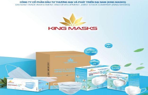 Thiết kế hồ sơ năng lực công ty sản xuất khẩu trang Đại Nam (Kings Mask)