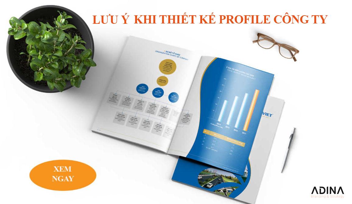 Lưu ý khi thiết kế profile công ty