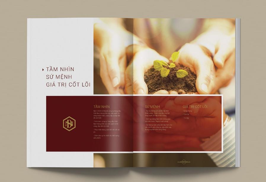 Lưu ý thiết kế profile công ty xuất phát từ nhận diện lõi thương hiệu