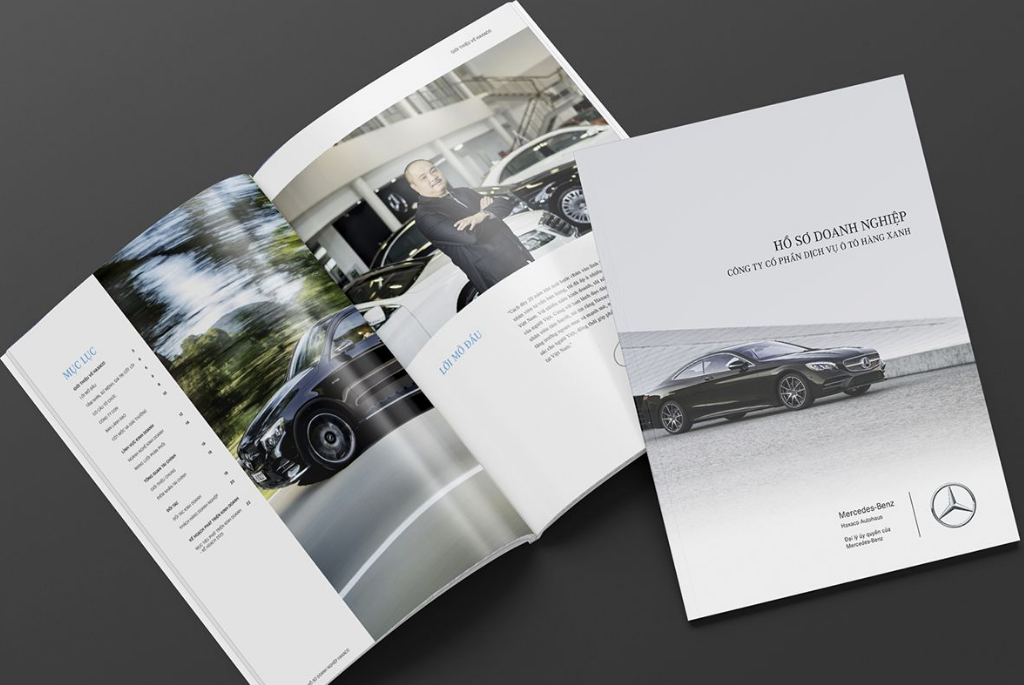 Mẫu profile giới thiệu công ty xe hơi Mercedes-Benz