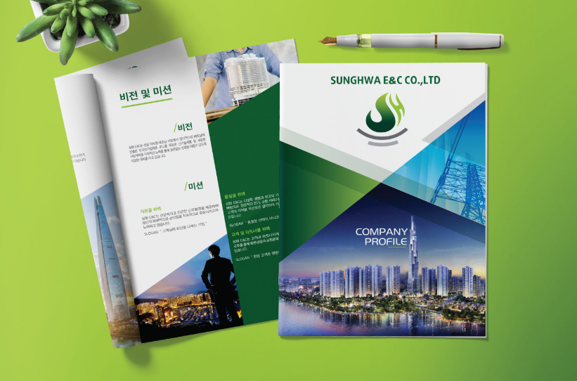Mẫu profile thương hiệu SUNGHWA E&C (Nguồn: Adina Việt Nam)
