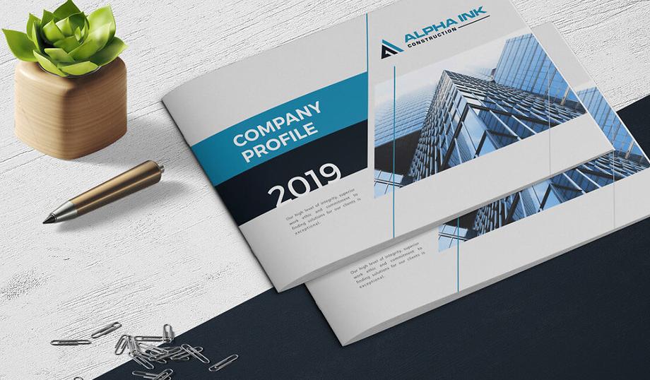 Mẫu thiết kế profile công ty xây dựng Alpha INK (Nguồn: Internet)