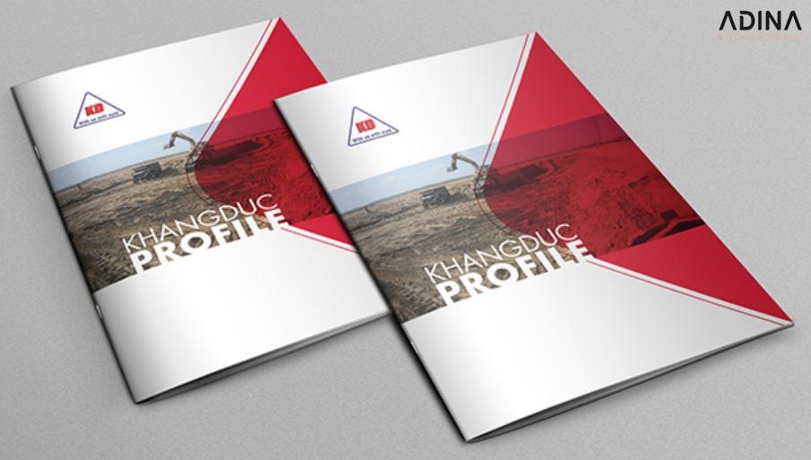 Mẫu thiết kế profile công ty xây dựng Khang Đức (Nguồn: Internet)