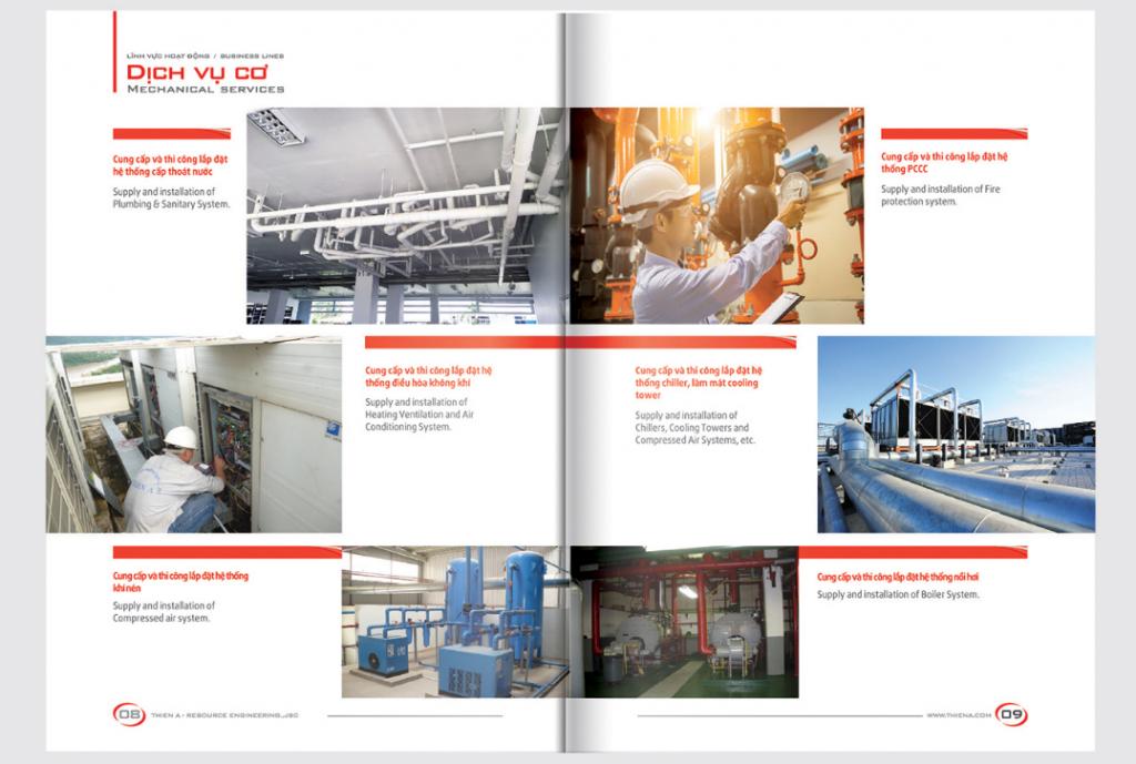 Mẫu thiết kế profile công ty xây lắp cơ điện Thiên Á