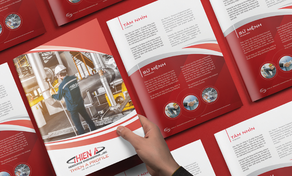 Mẫu thiết kế profile công ty xây lắp cơ điện Thiên Á 1