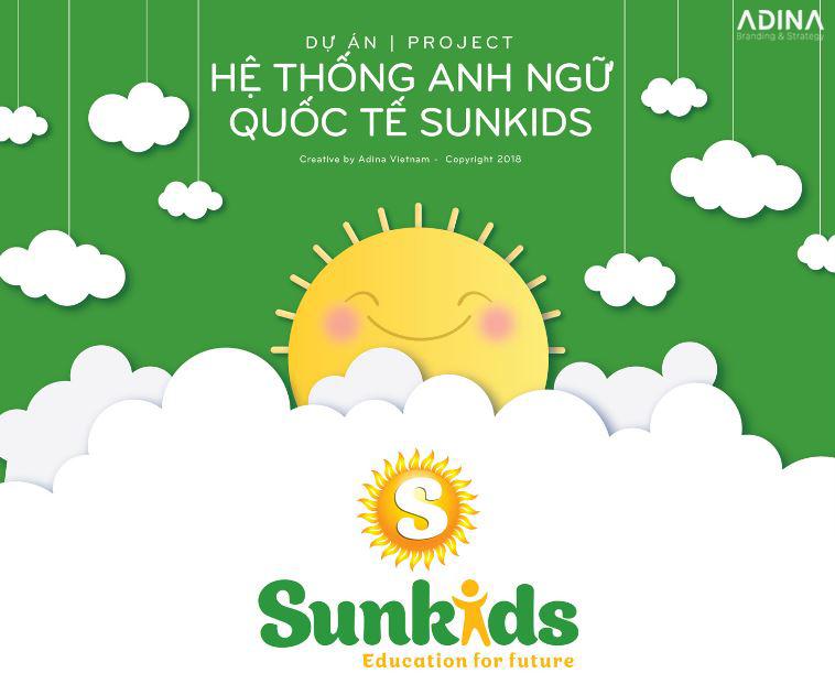 Thiết kế logo trung tâm Anh ngữ Sunkids