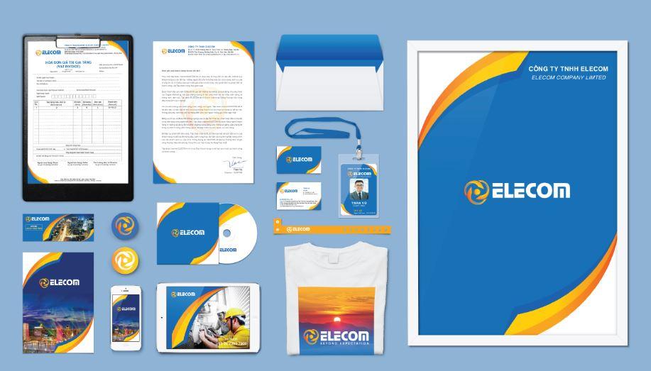 Thiết kế nhận diện thương hiệu Elecom