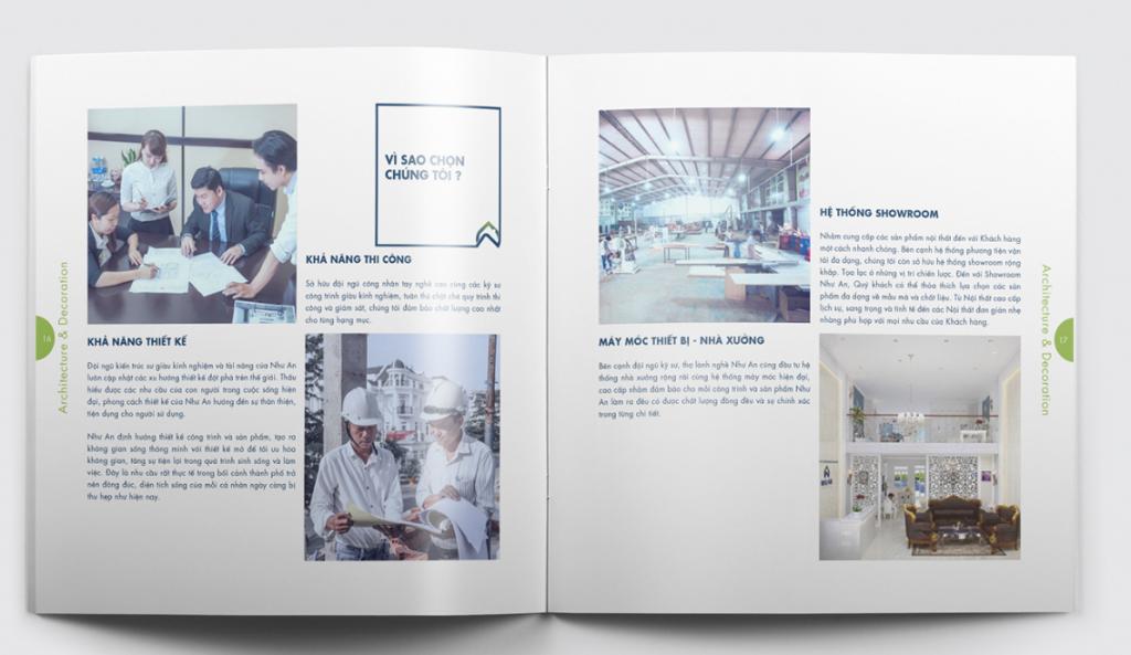 Thiết kế profile công ty kiến trúc Như An