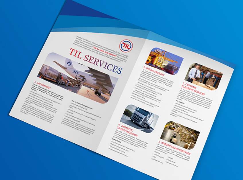 Thiết kế profile công ty vận tải TIL