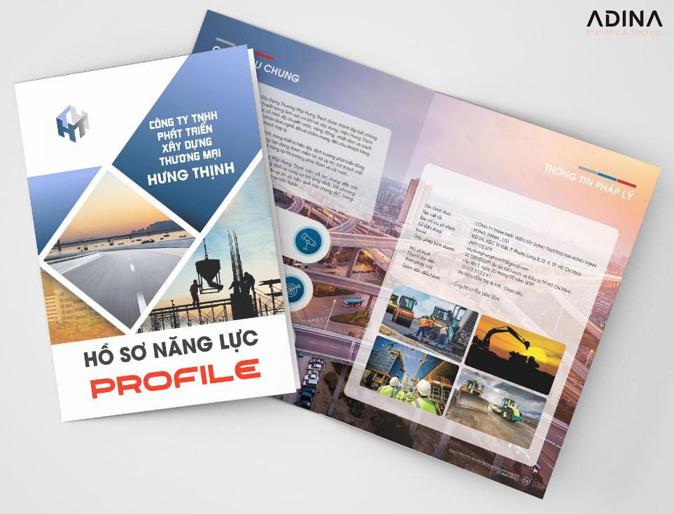 Thiết kế profile công ty xây dựng Hưng Thịnh (Nguồn: Internet)